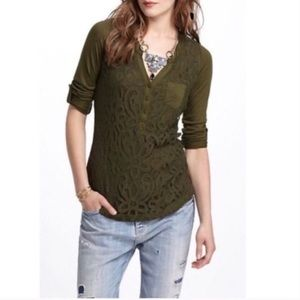 Anthropologie Vanessa Virginia Devine Henley Top
